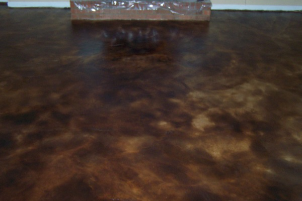 dark brown stained concrete floors. Stained Concrete Expresso Staining  North Carolina South